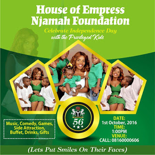 House of Empress Njamah Foundation To Feed 1300 Children Come 1st Oct.