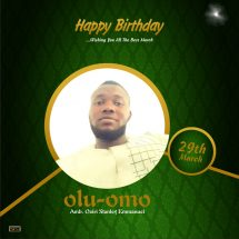 Birthday Message From Amb. Oziri Stanley