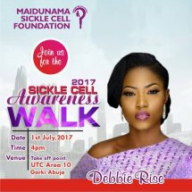 Debbie-Rise Joins Others for Sickle Cell Awareness  Walk in Abuja