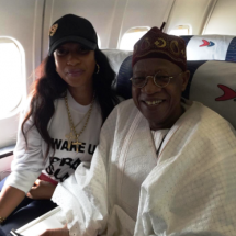 Tonto Dikeh Poses With meet Lai Mohammed