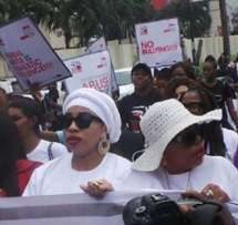 Tonto Dikeh, Mercy Aigbe lead walk against domestic violence