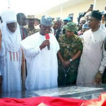 Governor Yahaya Bello Commissions Forward Operation Bass Barracks in Okene