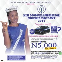 Miss Goodwill Ambassador Nigeria Flags Off 2017 Registration