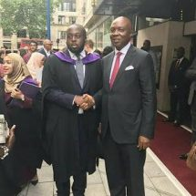 PHOTOSNEWS: Senate President in the United Kingdom for his son's Graduation