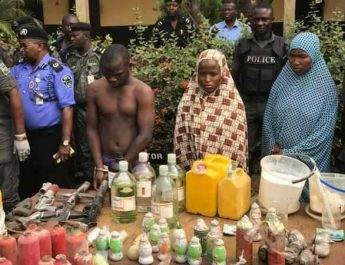 PHOTOS: Nigeria Police Uncovers Bomb Factory in Edo State