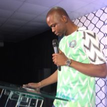 Abuja Based Pastor Wears Nigeria's #74,000 Nike Jersey to Preach